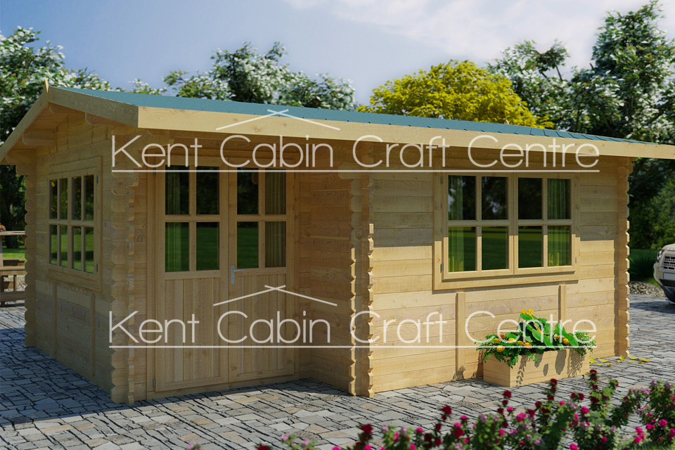 Image of The Alaska Loft Log Cabin - Kent Cabin Craft Centre