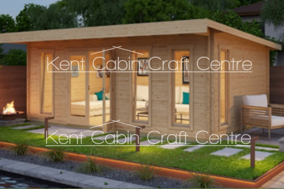 Image of the Barbados 6 Log Cabin - Kent Cabin Craft Centre