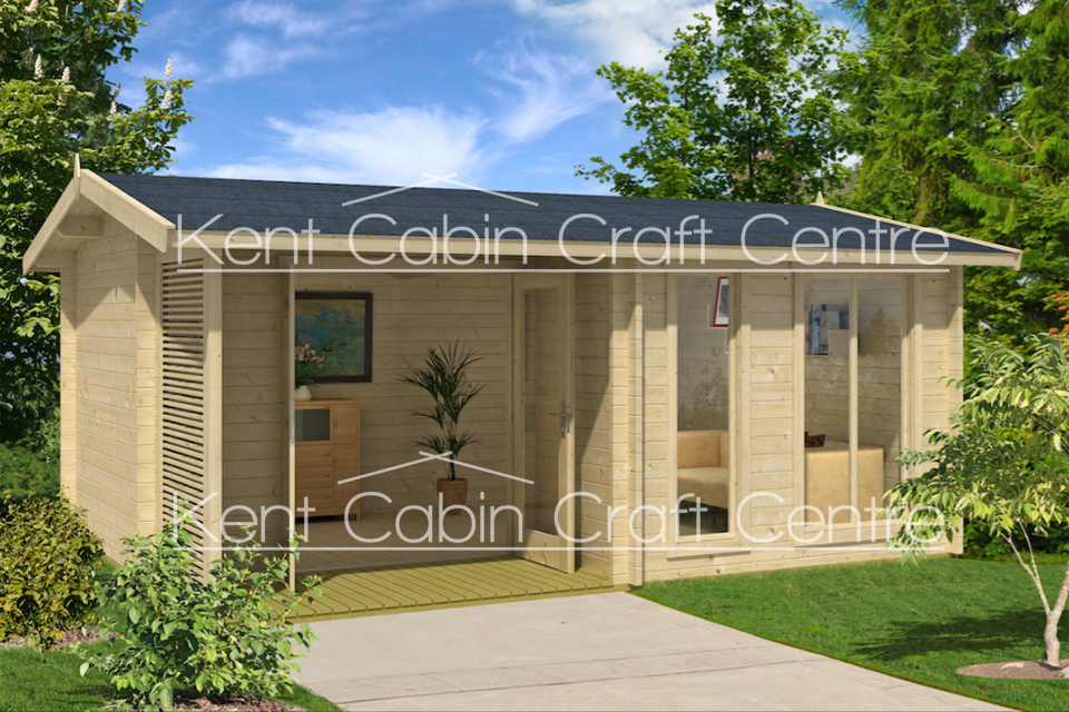 Image of the Brighton Log Cabin - Kent Cabin Craft Centre