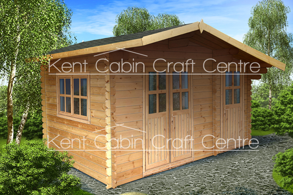 Image of The Iowa Loft Log Cabin - Kent Cabin Craft Centre