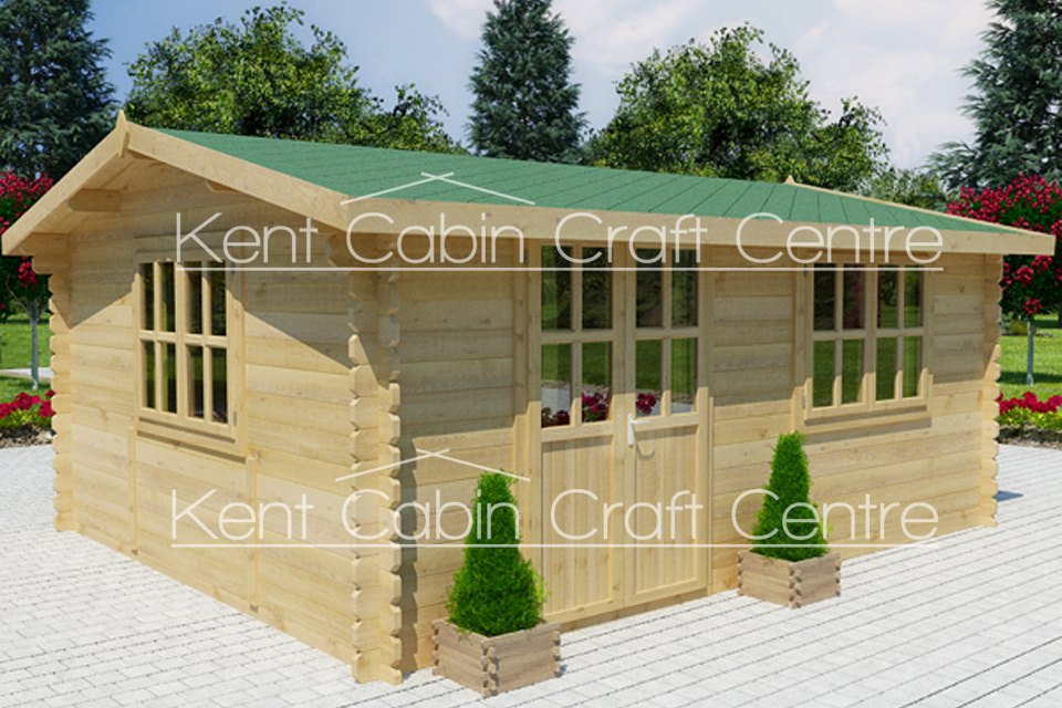 Image of The Missouri Loft Log Cabin - Kent Cabin Craft Centre