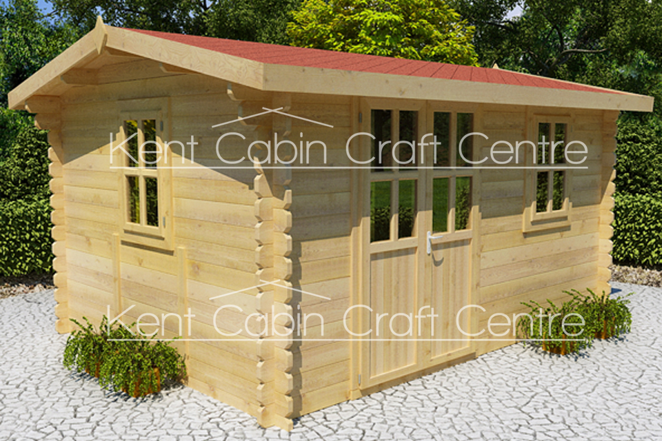 Image of The Nebraska Loft Log Cabin - Kent Cabin Craft Centre