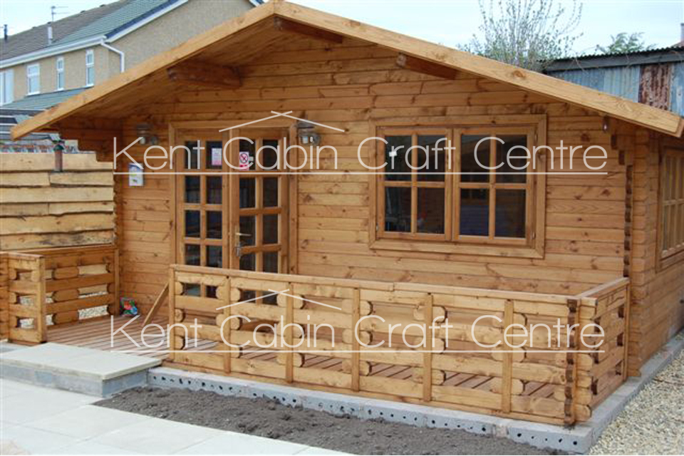 Image of The New Hampshire Loft Log Cabin - Kent Cabin Craft Centre