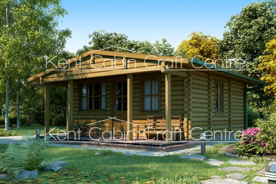 Image of the Oakwood Log Cabin - Kent Cabin Craft Centre