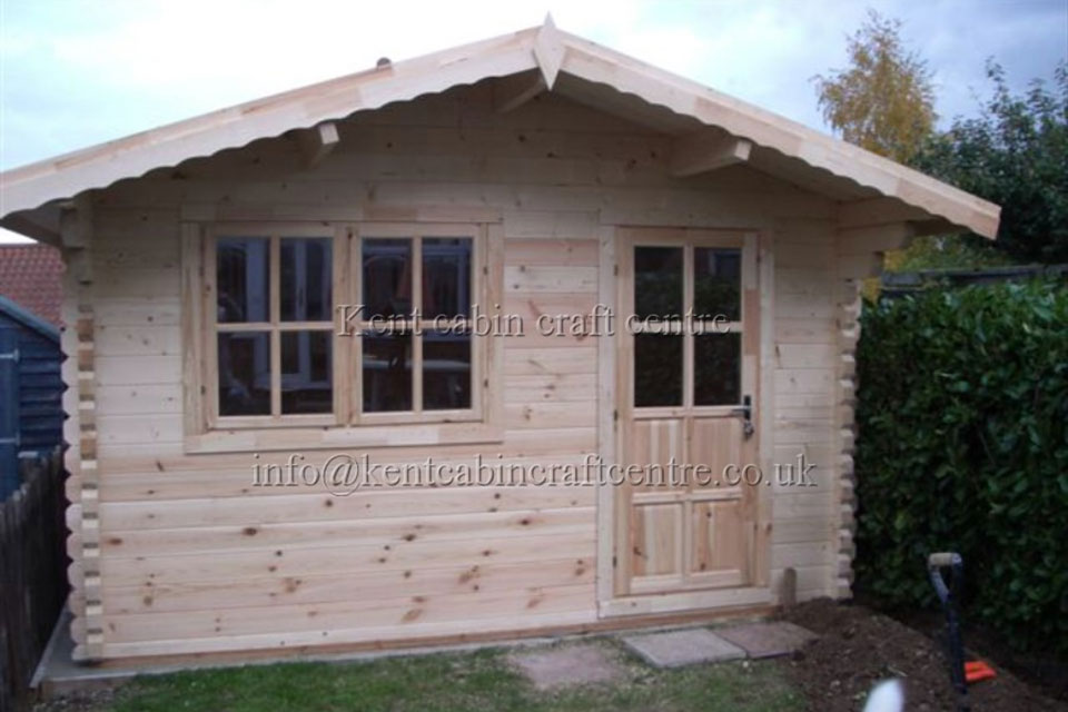 Image of The Oklahoma Loft Log Cabin - Kent Cabin Craft Centre