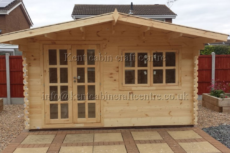 Image of The Oregon Loft Log Cabin - Kent Cabin Craft Centre