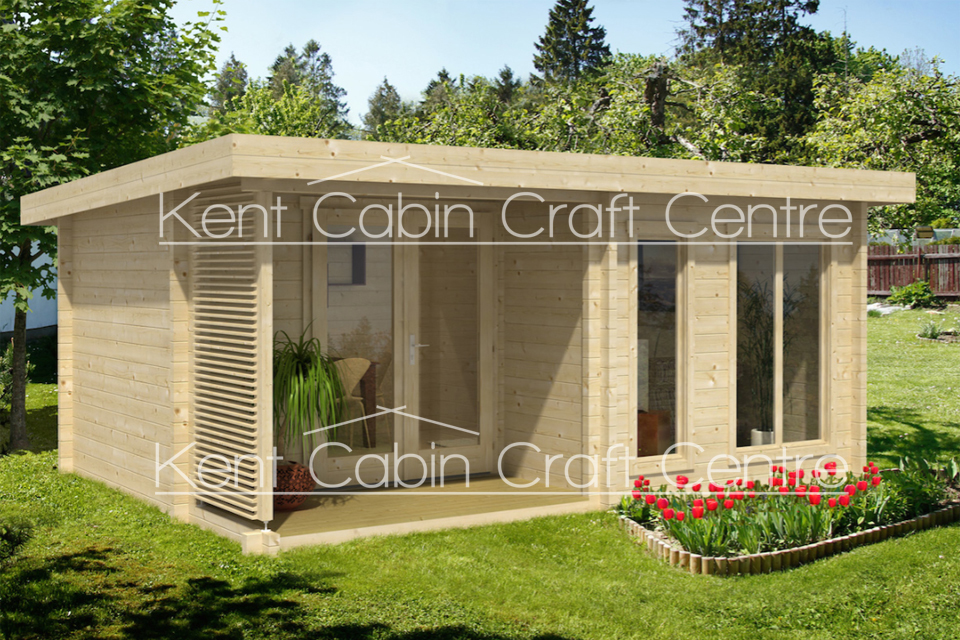 Image of the Orkney Log Cabin - Kent Cabin Craft Centre