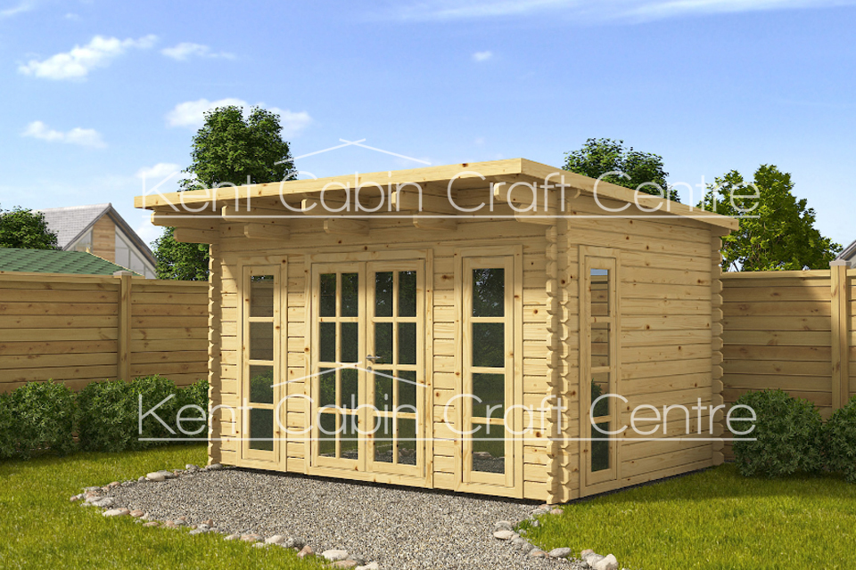 Image of The Haven Loft Log Cabin - Kent Cabin Craft Centre