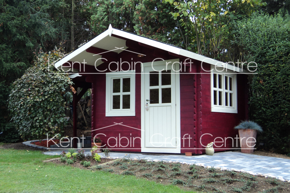 Image of The Virginia Loft Log Cabin - Kent Cabin Craft Centre
