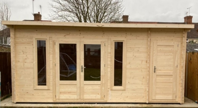 Photo of cabin installed by Kent Cabin Craft Centre - Carly