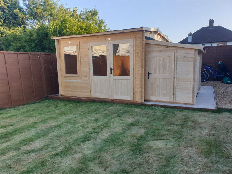 Photo of cabin installed by Kent Cabin Craft Centre Orpington, Kent, September 2019
