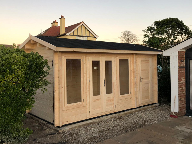 Photo of cabin installed by Kent Cabin Craft Centre St. Margaret's at Cliff 4th December 2019